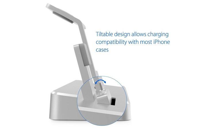 Base de carga para iPhone y Apple Watch de aluminio