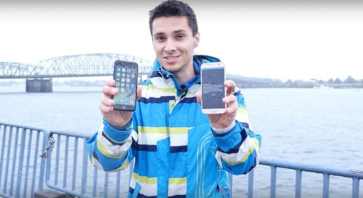 El iPhone 7 sobrevive mejor que el Galaxy S7 tras ser sumergido a más de 10 metros de profundidad [Vídeo]