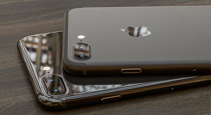 Este concepto imagina un iPhone 7 Plus en color Negro Oscuro y Negro Piano