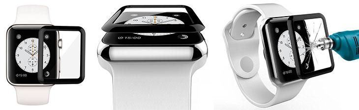 Protector 3D de cristal templado para la pantalla del Apple Watch - AIBULO