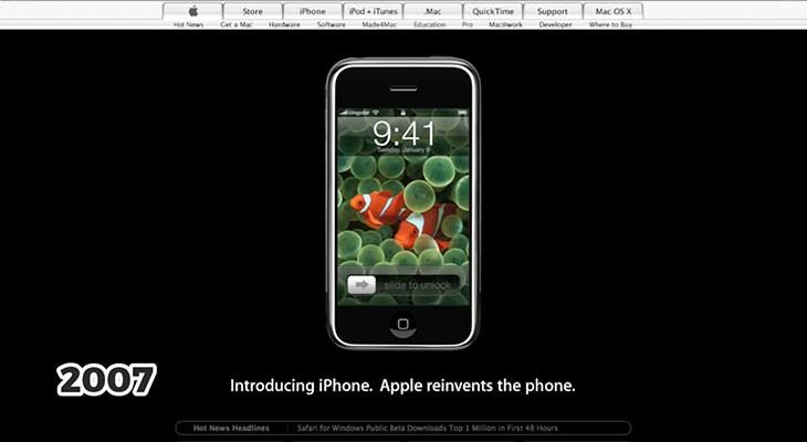 Para nostálgicos: veinte años de Apple.com en tres minutos [Vídeo]