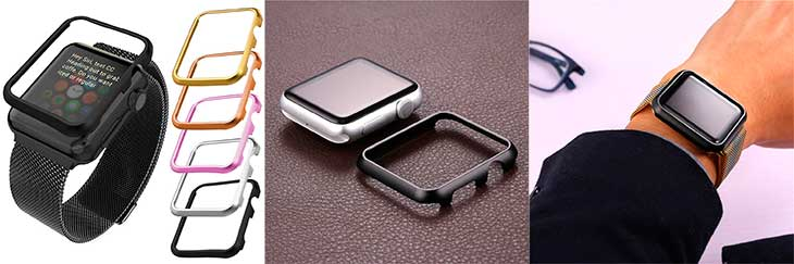 Funda de aluminio tipo bumper para Apple Watch - Bandmax