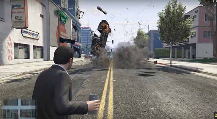 Este Mod para GTA V incorpora el arma definitiva, un Galaxy Note 7 explosivo [Vídeo]
