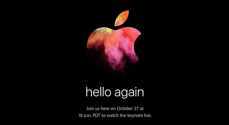 """""""Hello Again"""": El evento de presentación de los nuevos Macs ya es oficial"""