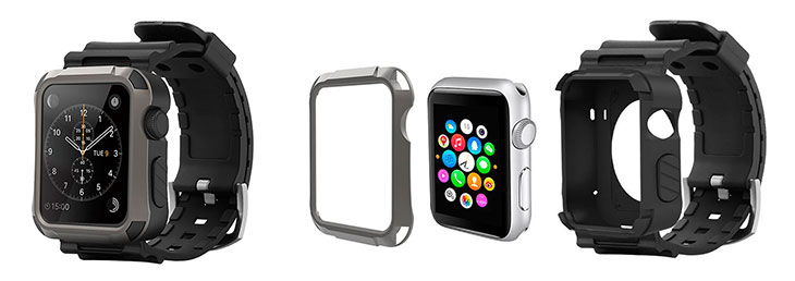 Carcasa resistente para Apple Watch con correa incorporada - Simpeak