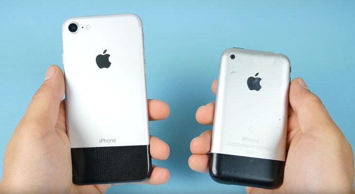 iPhone original Vs iPhone 7, nueve años dan para mucho… [Vídeo]