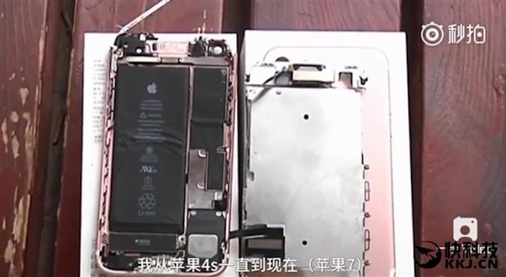Un iPhone imita a un Samsung Note 7, sí, explotando