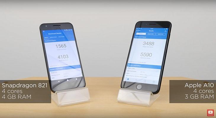 El iPhone 7 Plus, claro vencedor en un test de velocidad contra el Google Pixel