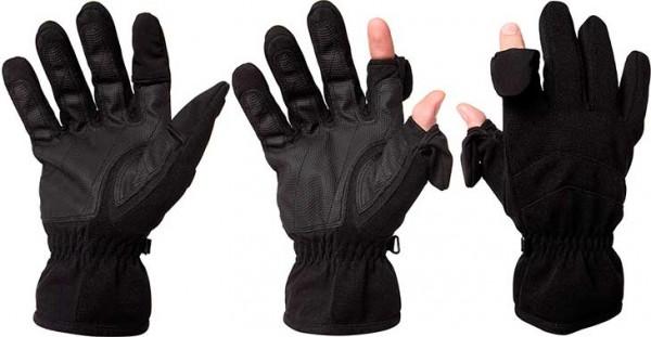 Guantes de invierno con pliegues para poder dejar descubiertos los dedos índice y anular - Easy Off Gloves