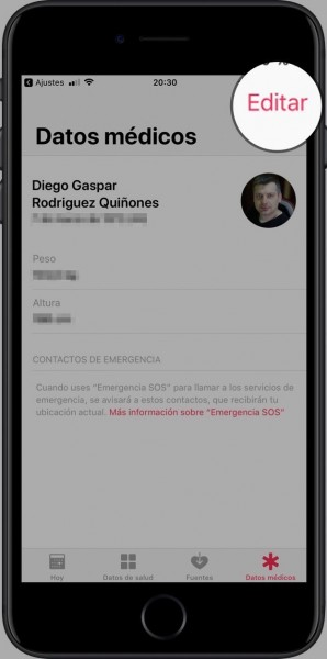 Emergencia-SOS iPhone