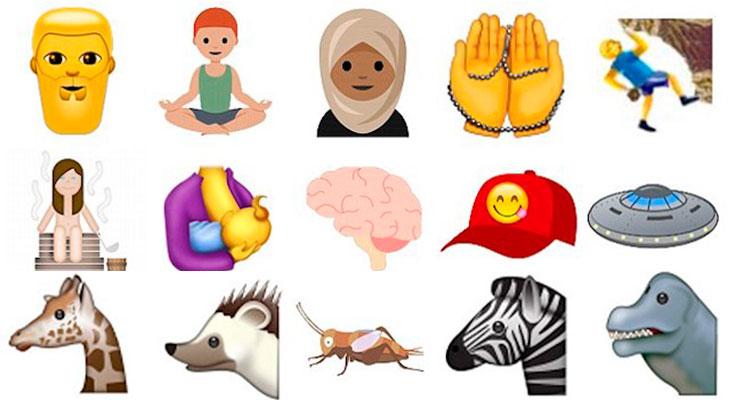 Estos son los 51 nuevos emojis que llegarán con Unicode 10 en 2017