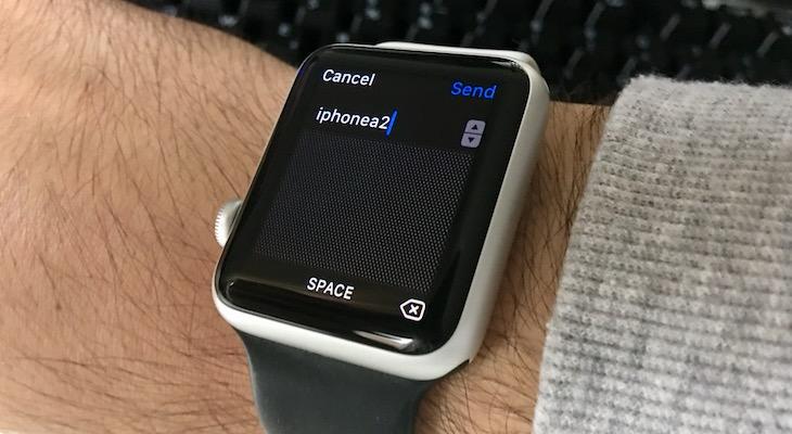 Cómo escribir en un Apple Watch con garabatos