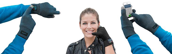 Guantes Bluetooth con manos libres y compatibles con pantallas táctiles - Midland Hi-Call