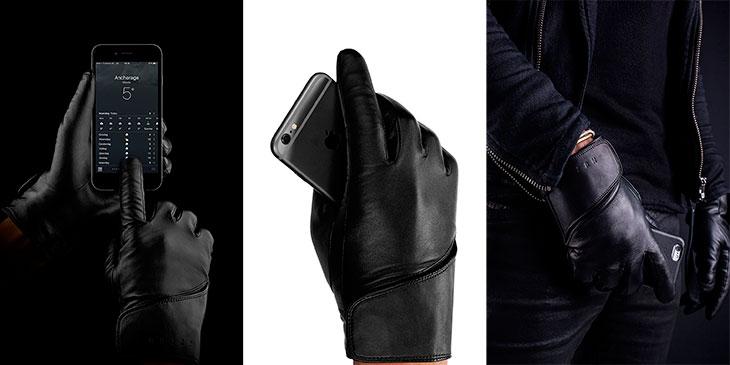 Guantes de cuero auténtico compatibles con pantallas táctiles - Mujjo Touchscreen Leather