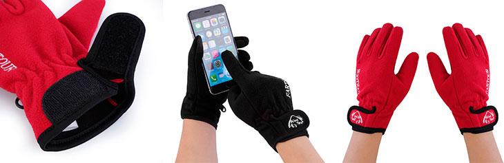 Guantes táctiles baratos para usar con iPhone y otros móviles - Outad