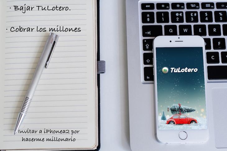 Si tienes un iPhone puedes ser millonario con TuLotero