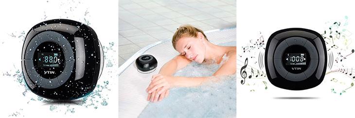 Altavoz de ducha con pantalla LCD y radio incorporada - VicTsing