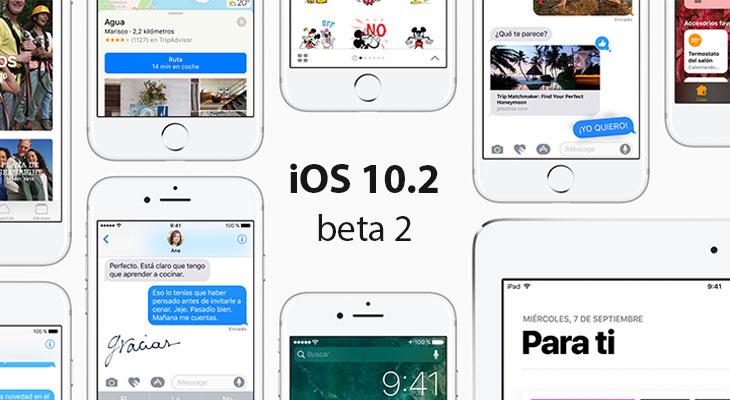 Apple lanza iOS 10.2 Beta 2 para desarrolladores. Estas son sus novedades