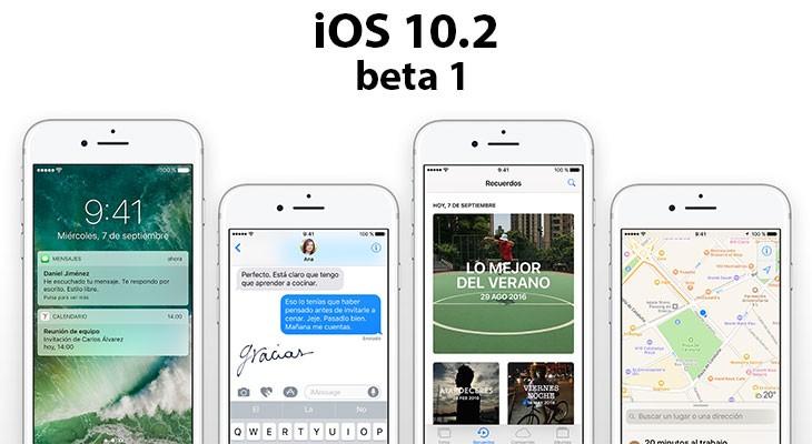Apple lanza iOS 10.2 beta 1: estas son las novedades