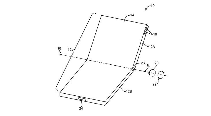Apple patenta un iPhone plegable con pantalla OLED flexible