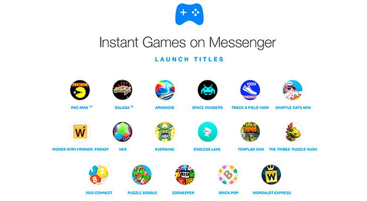 Los juegos instantáneos llegan a Facebook Messenger