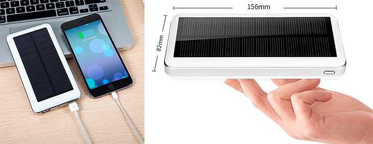 Cargador solar móvil de gran capacidad (20.000 mAh) - Aedon A8
