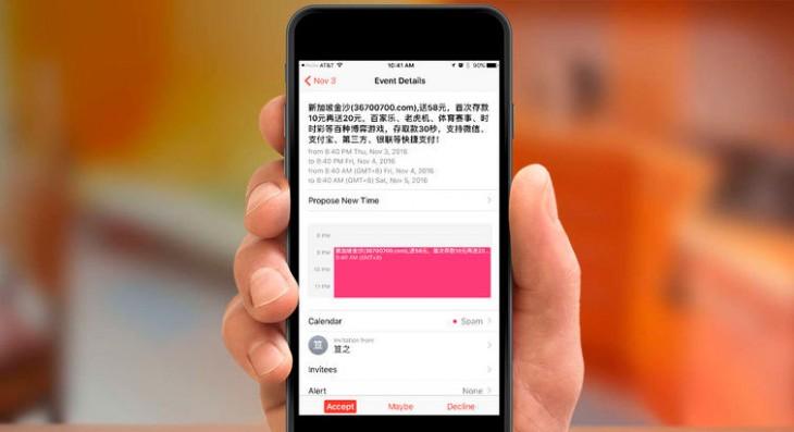 Apple lanza una función para eliminar el spam del Calendario de iCloud.