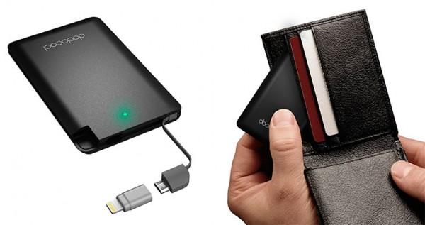 Mini batería externa con forma de tarjeta de crédito - Dodocool