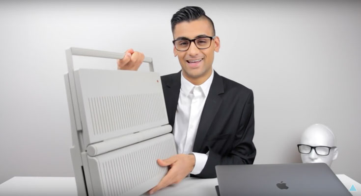 El primer portátil de Apple vs el MacBook Pro de 2016 [Vídeo]