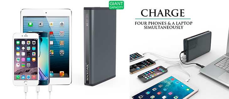 Batería externa de 50.000 mAh para móviles, tablets y portátiles - Maxoak