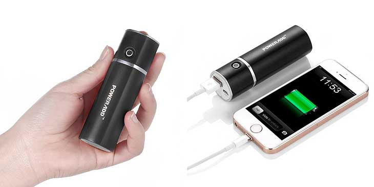 Mini batería externa con forma cilíndrica - Poweradd Slim 2