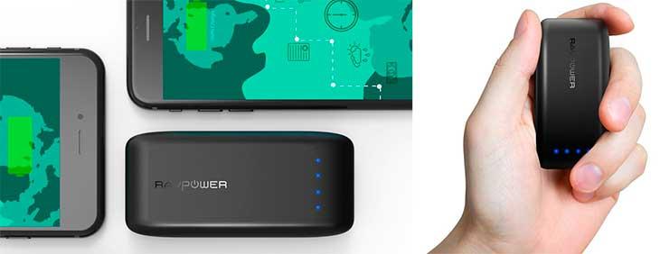 Mini batería externa de 6700 mAh con forma de petaca - RAVPower