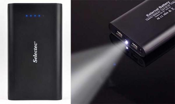 Batería externa de 18.000 mAh - Selectec