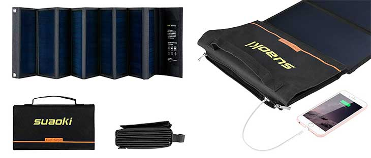 Panel solar con cargador multifunción para móvil, tablets y otros dispositivos | Suaoki