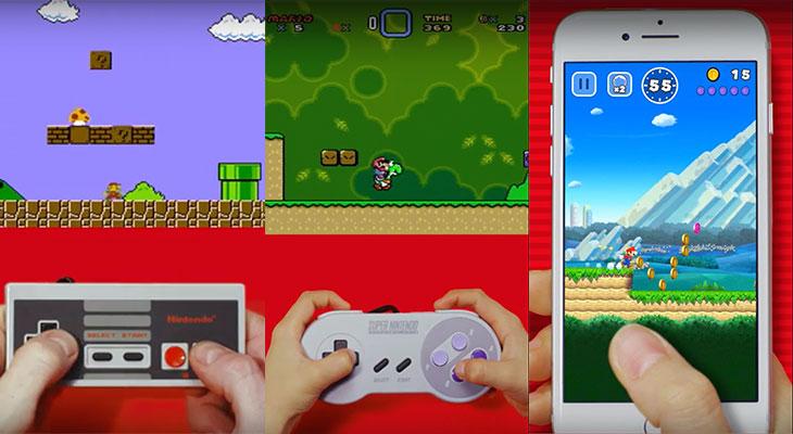 Así han evolucionado los juegos de Super Mario a lo largo de los años [Vídeo]