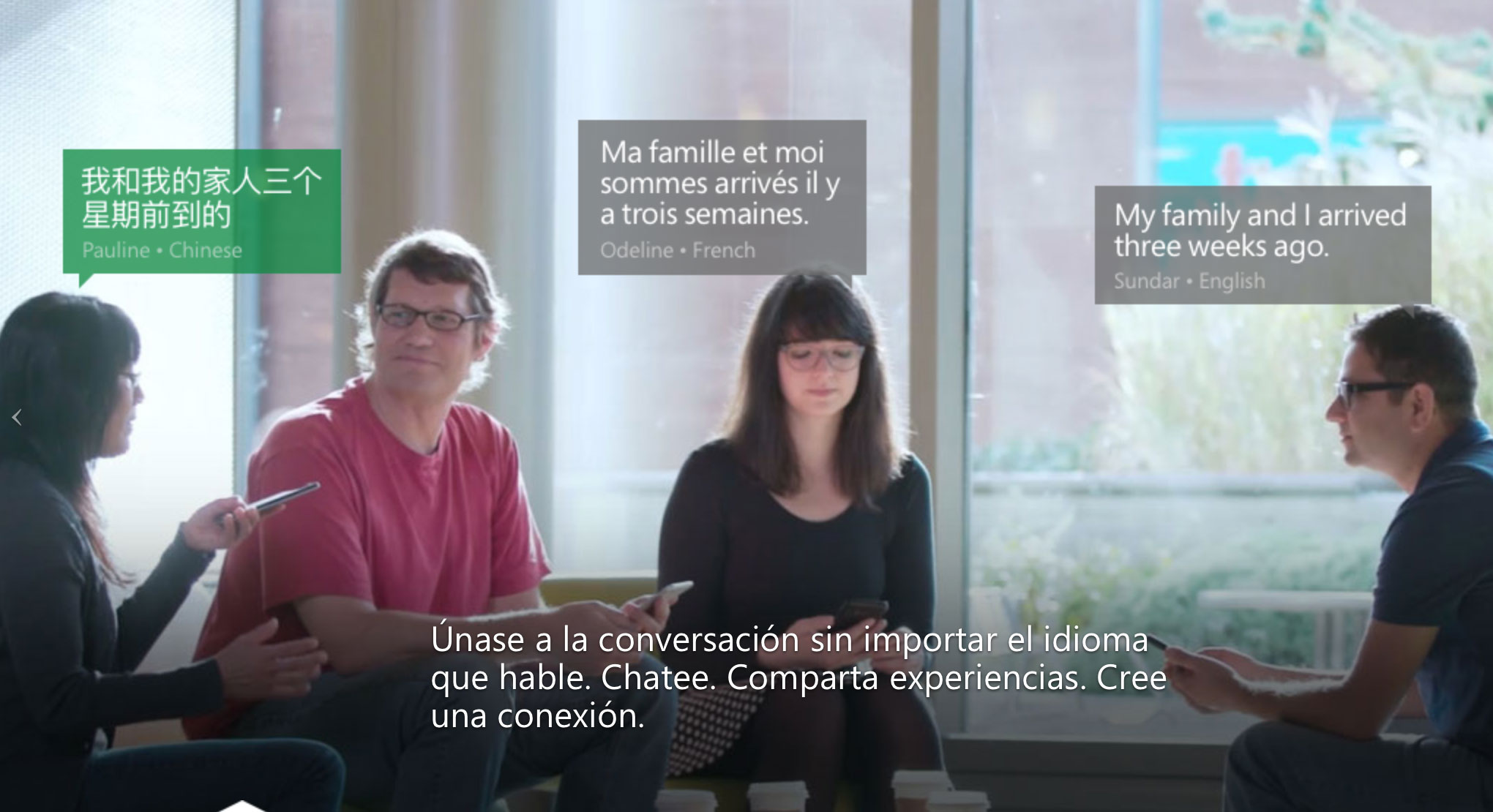 Microsoft lanza un traductor universal para conversaciones en grupo