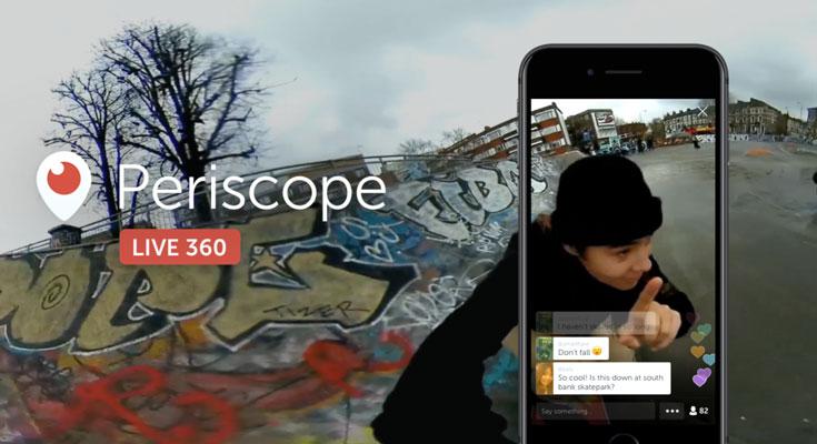 Los vídeos de 360 grados llegan a Twitter a través de Periscope