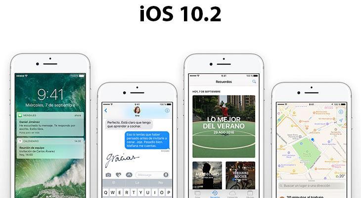 Apple lanza iOS 10.2 para todos, estas son las novedades