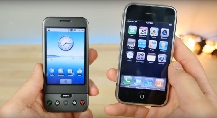 Comparando el iPhone original con el primer Android [Video]