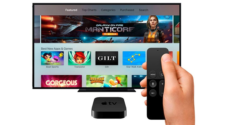 Apple aumenta el límite de las aplicaciones para Apple TV de 200 MB a 4 GB