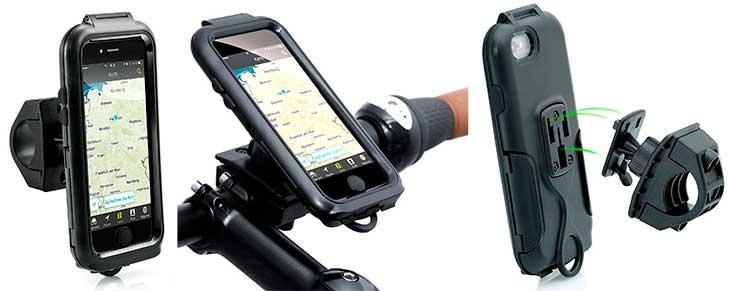 Soporte de bici impermeable para iPhone 6s, 6, 6 Plus, SE, 5s y 5 - Arendo