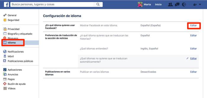 Cómo cambiar el idioma de Facebook - imagen 3
