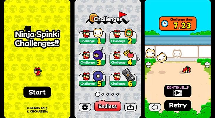 Llega el nuevo juego del creador de Flappy Bird: Ninja Spinki Challenges!!