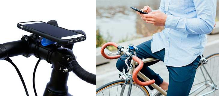Mejor soporte de bici para iPhone 7, 7 Plus, 6s, 6, SE, 5s y 5 | Quad Lock Bike Kit