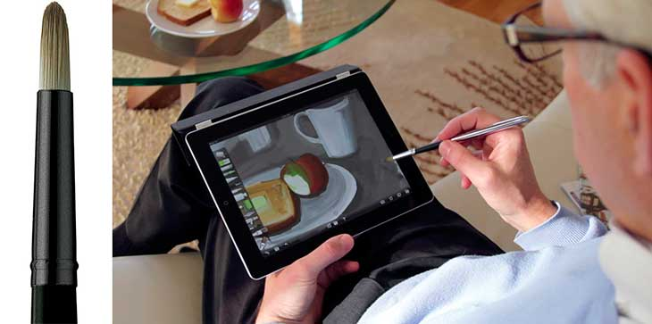Sensu Brush Artist: un original lápiz óptico y pincel para iPad