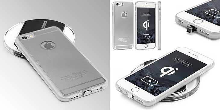 Funda + Cargador inalámbrico para iPhone 5, 5s, SE, 6, 6s, 6 Plus o 6s Plus - Urcover