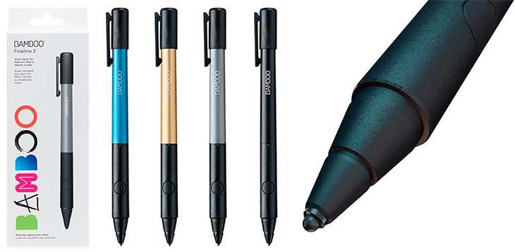 Lápiz óptico perfecto para escribir en iPad Air 2, mini 4 y modelos anteriores - Wacom Bamboo Fineline 2