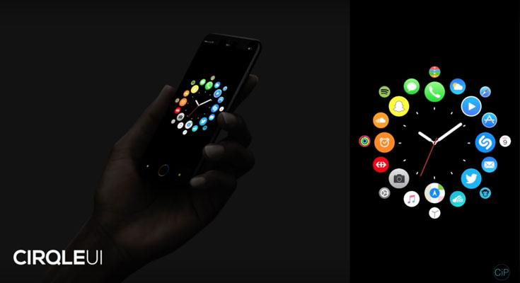 CirqleUI es un curioso concepto de iOS 11 basado en el Apple Watch [Video]