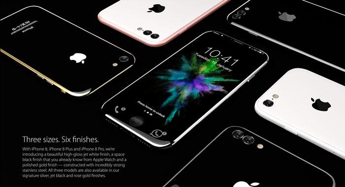 iPhone 8 - Concepto - Tamaños