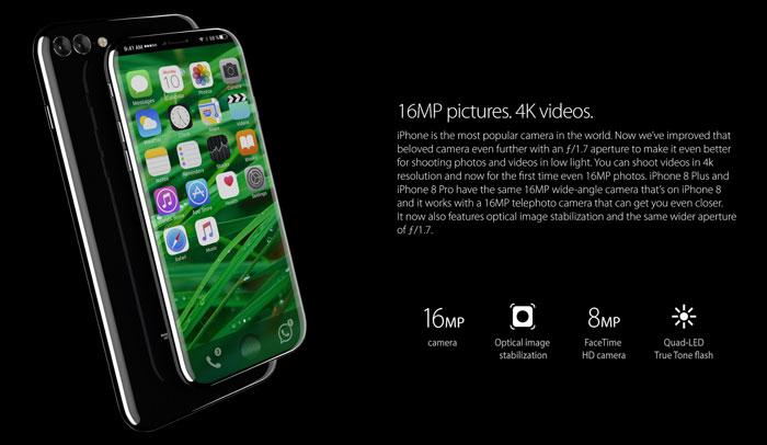 iPhone 8 - Concepto - Cámara